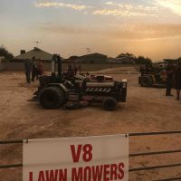 V8 Lawnmowers - sunset demonstration